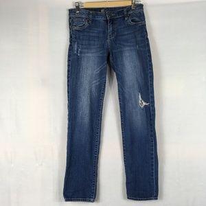 Jeans boyfriend fit distressed medium ripped loose